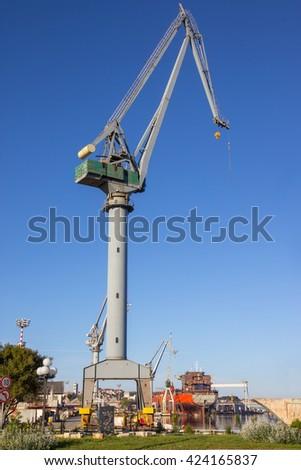 Shipyard in Pula, Croatia. - stock photo