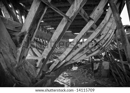 Shipyard  Manta - Ecuador - stock photo