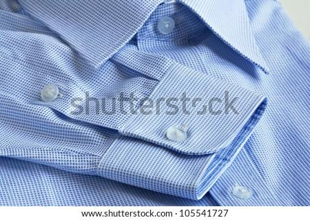 Shirt details in macro shot - stock photo