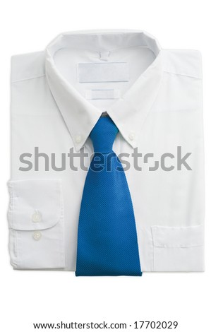 Shirt isolated on a white - stock photo