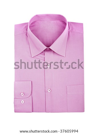 shirt isolated on white - stock photo