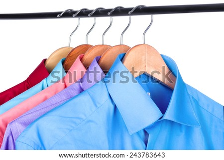 shirt on a hanger on a white background  - stock photo