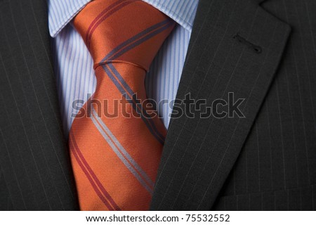 Shirt & Tie with copy area - stock photo
