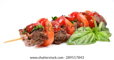 Shish kebab from mutton - stock photo