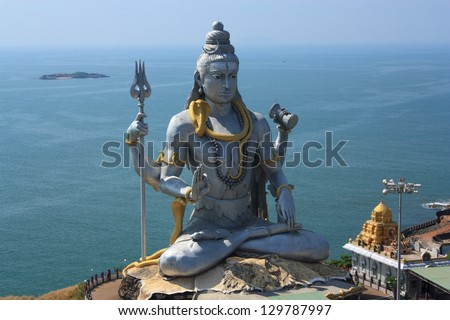 Shiva Statue Wallpaper Shiva Statue in Murudeshwar