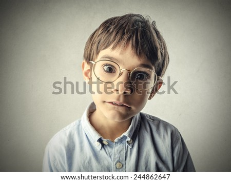 Shocked child - stock photo