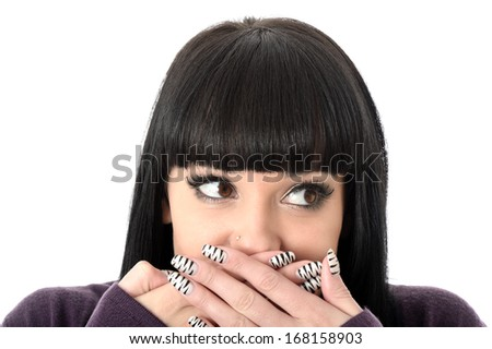 Shocked Young Woman - stock photo