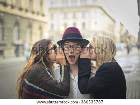 Shocking secrets - stock photo