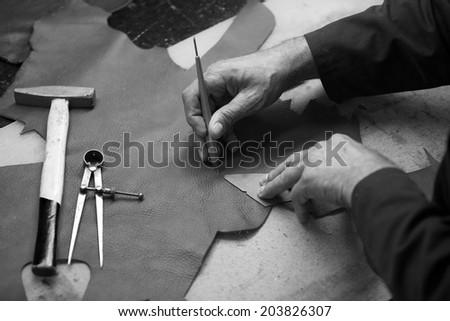 shoe factory - stock photo