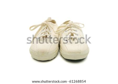 Shoe Kid isolate shot. Is taken in line of macro. - stock photo
