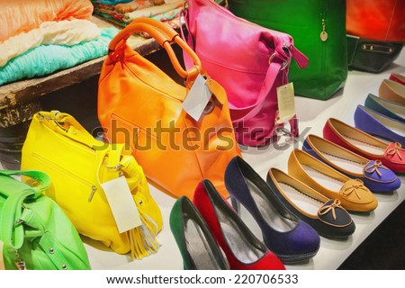 Shoes and bags - stock photo