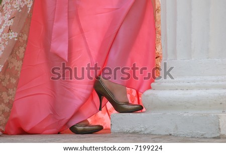 shoes and dress - stock photo