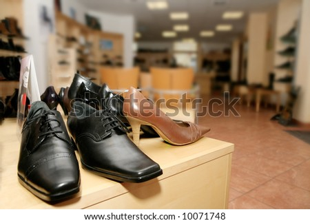 Shoes at the shop - stock photo