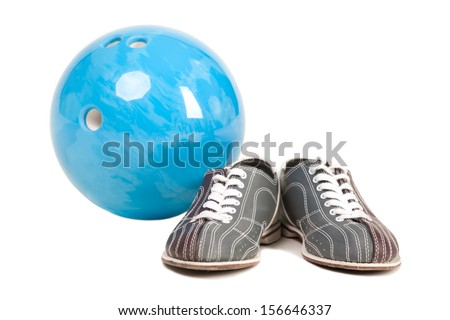 shoes for bowling. topic bowling - stock photo