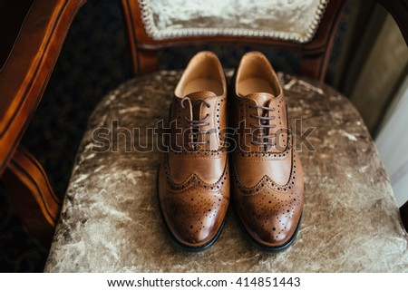 Shoes  for groom - stock photo