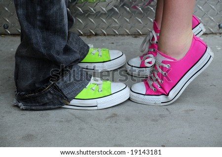 shoes from punk fashion - stock photo