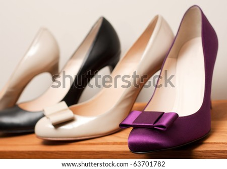 Shoes on the store (Shallow dof) - stock photo