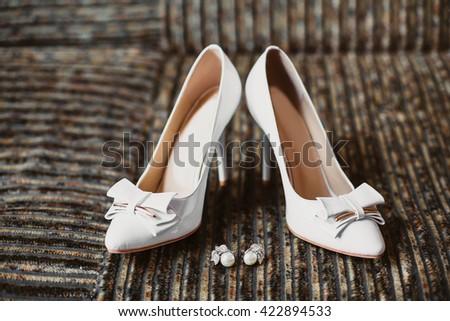 shoes wedding - stock photo