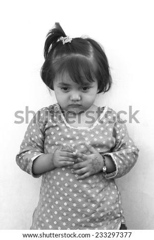 Shoot of adorable girl - stock photo