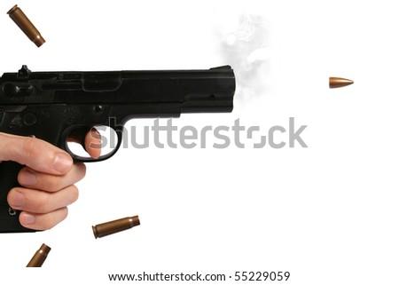 shoot the gun - stock photo