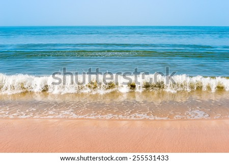 Shooting beautiful waves in the sunlight - stock photo