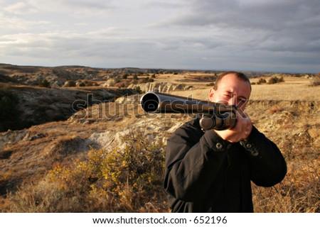 Shooting gun - stock photo