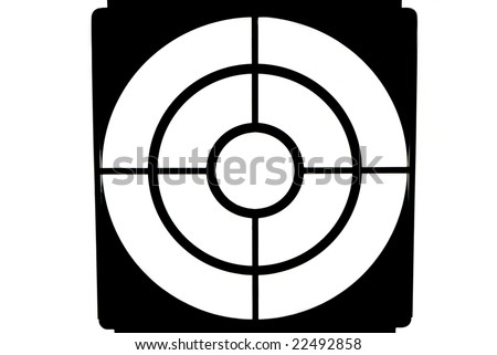shooting mark - stock photo
