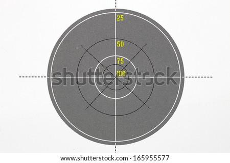 Shooting target bullseye board.  - stock photo