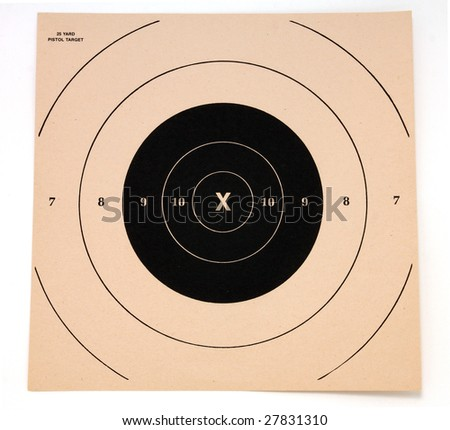 Shooting target, isolated - stock photo