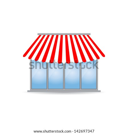 shop icon with special design - stock photo