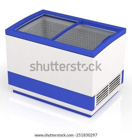 Shop refrigerator - stock photo