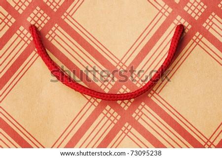 Shopping bag close up background - stock photo
