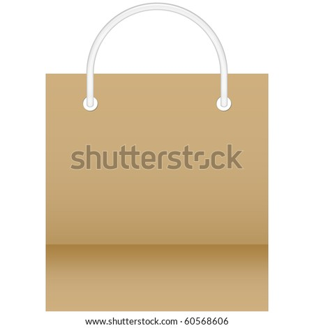 Shopping Bag in brown color - stock photo