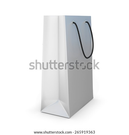 Shopping bag isolated on a white background. 3d render image. - stock photo
