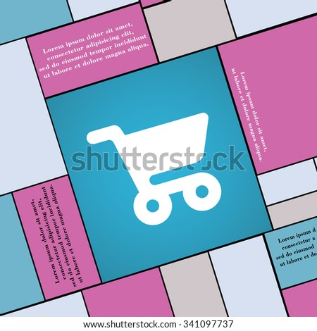 shopping basket icon sign. Modern flat style for your design. illustration - stock photo