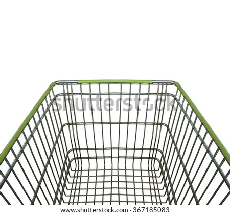 shopping cart isolated on white background with clipping path. - stock photo