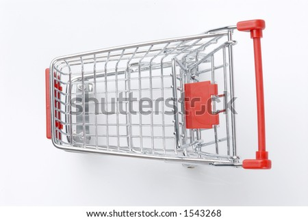 Shopping cart shot from top - stock photo