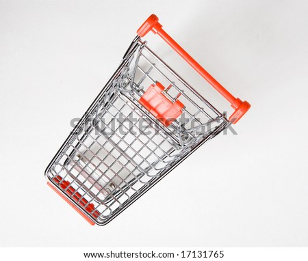 shopping cart top view - stock photo