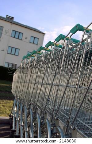 Shopping Carts. - stock photo