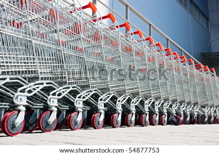shopping carts - stock photo