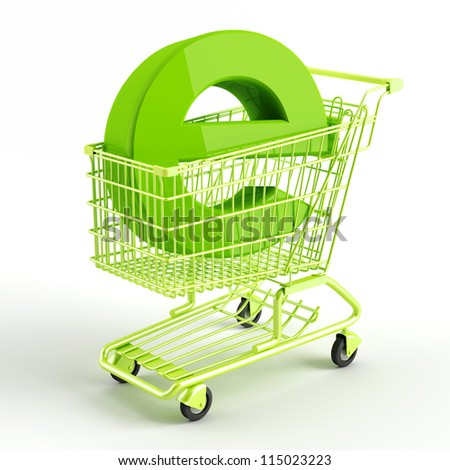 shopping carts  and symbol of e-commerce - stock photo