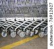 Shopping Carts wheel background - stock photo