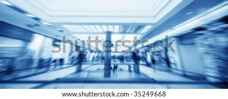 Shopping center. Abstract motion conceptual - stock photo
