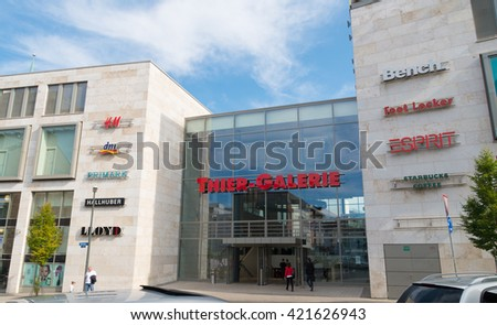 shopping center in germany - stock photo
