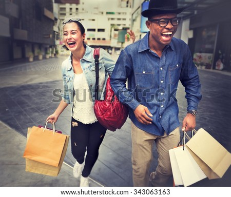 Shopping Commercial Marketing Capital Financial Concept - stock photo