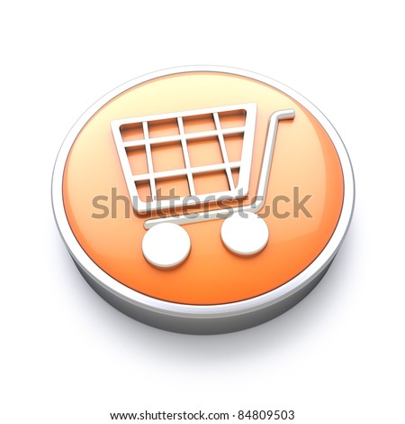 Shopping icon , great for E-commerce and online services - stock photo