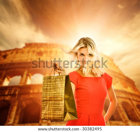 Shopping in Italy - stock photo