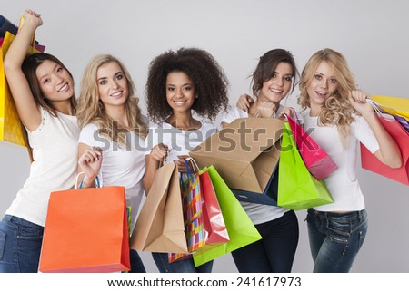 Shopping is the best medicine for women  - stock photo