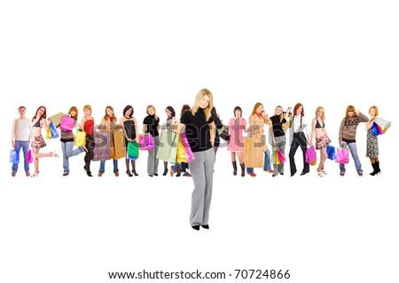 Shopping Isolated Diversity - stock photo