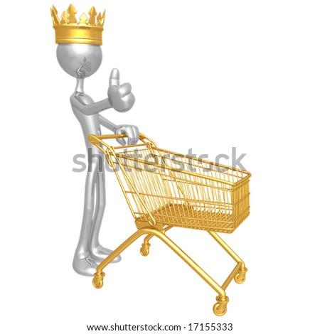 Shopping King - stock photo